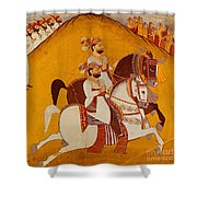 18th Century Indian Painting Shower Curtain