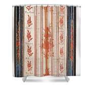 18th Century Thermometer-barometer Shower Curtain