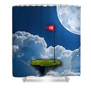 18th Hole Shower Curtain