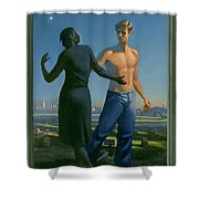19. Jesus Appears To Mary / From The Passion Of Christ - A Gay Vision Shower Curtain