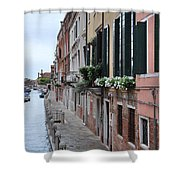 Venice Canal Shower Curtain