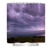 Wicked Good Nebraska Supercell Shower Curtain