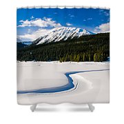 Winter In The Mountains Shower Curtain