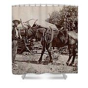 1900 Cowboy Shower Curtain