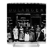 1900 Parisian Bakery Shower Curtain