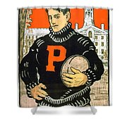 1901 - Princeton University Football Poster - Color Shower Curtain