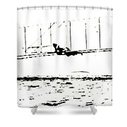 1902 Wright Brothers Glider Tests Shower Curtain