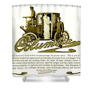 1903 - Columbia Motor Carriage Advertisement Shower Curtain