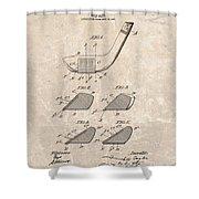 1903 Golf Club Patent Shower Curtain