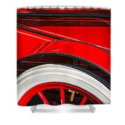 1903 Pope Hartford B Wheel Abstract Shower Curtain