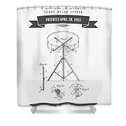 1903 Portable Drum Patent Drawing Shower Curtain