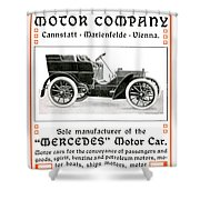 1904 - Daimler Motor Company Mercedes Advertisement - Color Shower Curtain