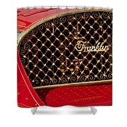 1904 Franklin Open Four Seater Grille Emblem Shower Curtain by Jill Reger