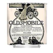 1904 - Oldsmobile Automobile Advertisement Shower Curtain