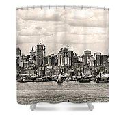 1906 Manhattan Panorama Shower Curtain