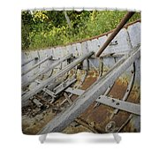 1906 Ship Wreck Sturgeon Point Lighthouse Shower Curtain