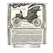 1907 - Columbia Victoria Phaeton Electric Automobile Advertisement Shower Curtain