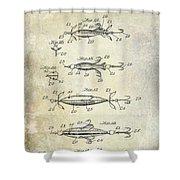 1907 Fishing Lure Patent Shower Curtain