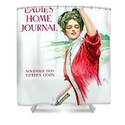 1909 - Ladies Home Journal Magazine Cover - November - Color Shower Curtain