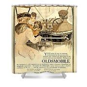 1909 - Oldsmobile Advertisement - Color Shower Curtain