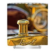 1909 Buick Model F Touring Hood Ornament Shower Curtain