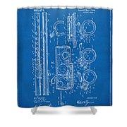 1909 Flute Patent - Blueprint Shower Curtain
