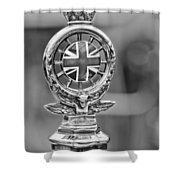 1909 Rolls-royce Silver Ghost Hood Ornament Shower Curtain