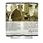 1910 - Gillette Mens Shaving Advertisement Shower Curtain