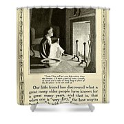 1910 - Ivory Soap Christmas Proctor And Gamble Advertisement  Shower Curtain