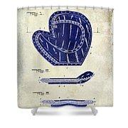 1910 Baseball Patent Drawing 2 Tone Shower Curtain