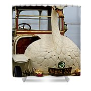 1910 Brooke Swan Car Shower Curtain