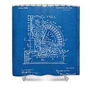 1910 Cash Register Patent Blueprint Shower Curtain