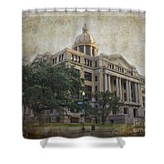 1910 Harris County Courthouse  Shower Curtain