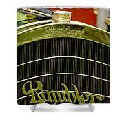 1910 Rambler Model 54 5 Passenger Touring Hood Ornament Shower Curtain by Jill Reger