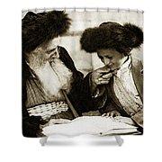 1910 Studying The Torah Shower Curtain