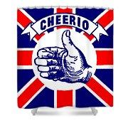 1910 Union Jack Cheerio Shower Curtain