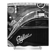 1911 Cadillac Roadster Grille And Hood Ornament Shower Curtain by Jill Reger
