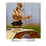 1911 Fiat Tipo 6 Holbrook 4 Passenger Demi-tonneau Hood Ornament Shower Curtain by Jill Reger