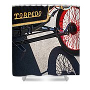 1911 Ford Model T Torpedo Grille Emblem Shower Curtain by Jill Reger