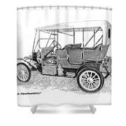 1911 Maxwell A B Shower Curtain