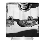 1911 Pope Hartford Model W Control Pedals Shower Curtain by Jill Reger