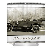 1911 Pope Hartford W Shower Curtain
