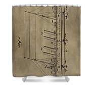 1911 Steamship Patent Shower Curtain