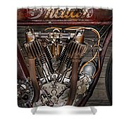 1912 Indian Board Track Racer Engine Shower Curtain
