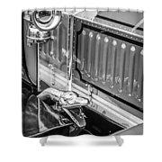 1912 Rolls-royce Silver Ghost Rothchild Et Fils Style Limousine Snake Horn -0711bw Shower Curtain