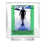 1912 Vienna Winter Sports Shower Curtain