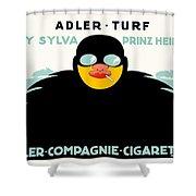 1913 - Adler Cigarette German Advertisement Poster - Color Shower Curtain