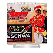 1913 - Geschwa Automobile Shock Absorber Adbertisement - Color Shower Curtain