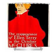 1913 - Mcclures Magazine Poster Advertisement - Ellen Terry - Color Shower Curtain
