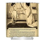 1913 - Proctor And Gamble - Ivory Soap Advertisement Shower Curtain